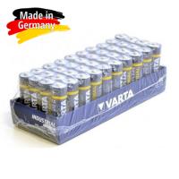 Varta Industrial AAA / LR03 / MICRO / MN2400 1.5V 1250mAh Alkaline baterija (ražots Vācijā) 40 gab.