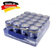 Varta Industrial D / LR20 / MONO / MN1300 1.5V 17000mAh Alkaline baterija (ražots Vācijā) 20 gab.