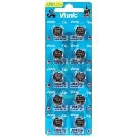 Vinnic L1131 LR54 / 189 / RW89 /AG10 / KA54 / LR1130 / L1131 / V10GA 68mAh 1.5V Alkaline Watch Batteries 10pcs
