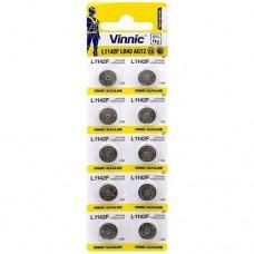 Vinnic L1142F / AG12 / LR43 / 186 / V12GA 1.5V 100mAh Alkaline pulksteņa baterijas 10 gab.