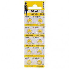 Vinnic L521F / AG0 1.5V 7mAh Alkaline pulksteņa baterijas 10 gab.