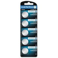 everActive CR2025 / DL2025/ ECR2025 3V 150mAh (min) Litija baterija 5 gab.