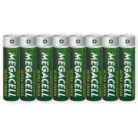 Megacell Ultra Green Zinc-Carbon LR03/AAA/R03/MN 2400/Micro/AM4/E92 1.5V batteries 8 pc.