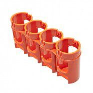 StoraCell 4 x C holder for rechargeable batteries / batteries (orange)