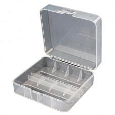 2x 26650 battery case (transparent)