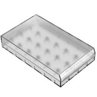 Efest H6 6x 18650 box for batteries, transparent