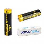 Xtar 14500 (AA) 800mAh 1.6A 3.7V Li-Ion battery with PCB protection (Button Top)