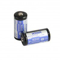 Xtar 16340 (rechargeable CR123) 650mAh 6A 3.6V Li-Ion battery with (PCB) protection (Button Top)
