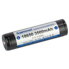 KeepPower 18650 3500mAh 3.7V Protected Li-Ion battery with protection (PCB) (Button Top)