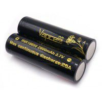 Vapcell INR18650 2800mAh 25A 3.7V High Drain Rechargeable Button Top Li-ion akumulators