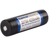 Keeppower 20700 4250mAh 15A 3.7V High Drain Li-Ion battery with protection (PCB) (Button Top)