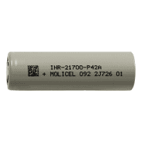 Molicel INR21700-P42A 4000mAh 45A 3.7V Li-Ion battery (Flat Top)