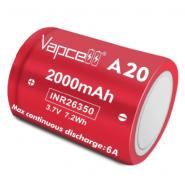 Vapcell INR26350 A20 2000mAh 6A 3.7V 7.2Wh Li-ion battery  (Flat Top)