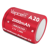 Vapcell INR26350 A20 2000mAh 6A 3.7V 7.2Wh Li-ion battery  (Flat Top)