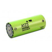 A123 Systems 26650 ANR26650M1B 2500mAh 70A 3.3V Li-Ion battery, flat top