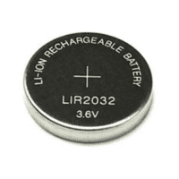 LIR2032 40mAh 3.6V Li-ion rechargeable battery, 1 pc., bulk