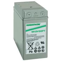 Exide GNB Marathon M-FT 12V 35Ah VRLA (Valve Regulated Lead-Acid) lead–acid battery with AGM (Absorbed Glass Mat) technology M12V35FT for UPS equipment, terminal M-M6-90