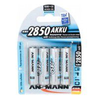 4x Ansmann AA/MIGNON/HR6 2650mAh 1.2V Low Self Discharge (LSD) Ni-MH rechargeable batteries 1000x, 4 pc., blister