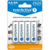 4x everActive Professional Line AA R6 2600mAh 1.2V Low Self Discharge (LSD) Ni-MH rechargeable batteries, 4 pc., blister