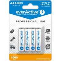 4x everActive Professional Line AAA R03 1050mAh 1.2V Low Self Discharge (LSD) Ni-MH rechargeable batteries, 4 pc., blister
