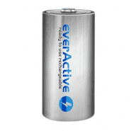 1x everActive Silver Line C R14 3500mAh 1.2V Low Self Discharge (LSD) Ni-MH rechargeable batteries, 1 pc., bulk