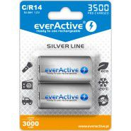 2x everActive Silver Line C R14 3500mAh 1.2V Low Self Discharge (LSD) Ni-MH rechargeable batteries, 2 pc., blister