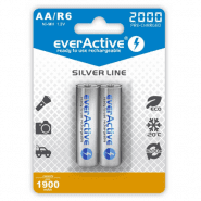 2x everActive Silver Line AA R6 2000mAh 1.2V Low Self Discharge (LSD) Ni-MH rechargeable batteries, 2 pc., blister