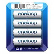 4x Panasonic Eneloop AA 1900mAh/2000mAh 1.2V NiMH rechargeable batteries BK-3MCCE 2100x, 4 pc., sliding pack