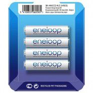 4x Panasonic Eneloop AAA 750mAh/800mAh 1.2V NiMH rechargeable batteries BK-4MCCE 2100x, 4 pc., sliding pack