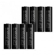 8x Panasonic Eneloop Pro AA 2550mAh 1.2V Ni-MH rechargeable batteries BK-3HCDE 500x, 8 pc. in a box