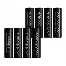 8x Panasonic Eneloop Pro AA 2550mAh 1.2V Ni-MH akumulatori lādējamās baterijas BK-3HCDE (ražots: 12.2018) 8 gab. kastītē