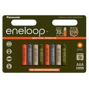8x Panasonic Eneloop AAA 750mAh/800mAh 1.2V NiMH rechargeable batteries Tones Expedition edition 8 pc., blister (04.2017)