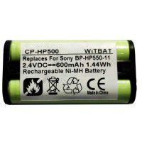 2.4V 700mAh SONY BP-HP550-11 NiMH rechargeable battery for wireless headset