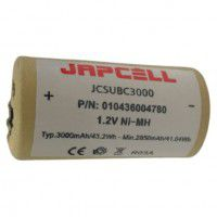 Japcell Sub-C 3000mAh 1.2V NiMH rechargeable battery, 1 pc.