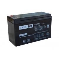 COSI CSB-127-T2 (12V 7Ah/7.2Ah 20HR) (6.3mm) VRLA (Valve Regulated Lead-Acid) lead–acid battery
