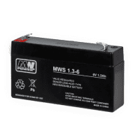 MW Power MWS 1.3-6 (6V, 1.3Ah) (4.8mm) VRLA (Valve Regulated Lead-Acid) lead–acid battery