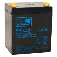 MW Power CSB-125-T2 MW (12V, 5Ah) (6.3mm) VRLA (Valve Regulated Lead-Acid) lead–acid battery