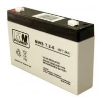 MW Power MWS 7.2-6 (6V, 7Ah / 7.2Ah) (4.8mm) VRLA (Valve Regulated Lead-Acid) lead–acid battery