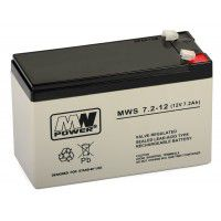 MW Power MWS 7.2-12 (12V, 7Ah/7.2Ah) (4.8mm) VRLA (Valve Regulated Lead-Acid) lead–acid battery