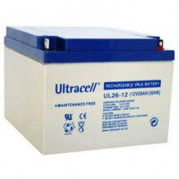 Ultracell UL26-12 (12V 26Ah 20HR) VRLA (Valve Regulated Lead-Acid) lead–acid battery with Oxygen recombination technology