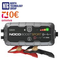 Noco GB20 Genius Boost Sport 400A 12V UltraSafe Lithium Jump Starter auto / moto starteris litija akumulatoriem / USB powerbank