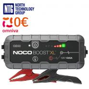Noco GB50 Genius Boost XL 1500A 12V UltraSafe Lithium Jump Starter, USB powerbank