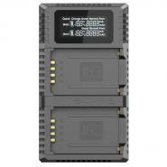Nitecore FX2 PRO Dual-Slot USB charger for Li-ion NP-T125 Batteries for Fujifilm camera