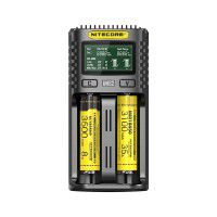 Nitecore UMS2 universal 2x Li-Ion/NiMH/Ni-Cd battery charger