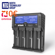 Xtar Dragon VP4 Plus Premium universal Li-Ion, Ni-MH, Ni-Cd 4-channels charger / tester