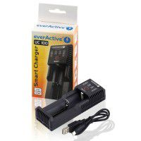 Everactive UC-100 Smart Charger 1x Li-Ion/LiFePo4/Ni-MH battery charger