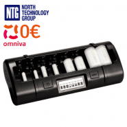 Maha Powerex MH-C808M profesionālais 8-kanālu Ni-MH vai Ni-Cd AA/AAA/C/D akumulatoru lādētājs