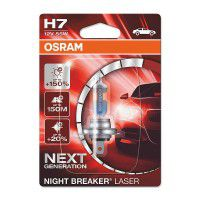 OSRAM H7 Night Breaker Laser +150% PX26d Halogen automotive lighting bulb 55W 64210NL-01B, 1 pc.