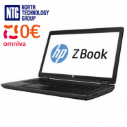 "Used HP ZBook 17"" G2 Mobile Workstation laptop 1920x1080 with Intel Core i7-4910QM processor, 16GB RAM, SSD 480GB, Windows 10 Pro"