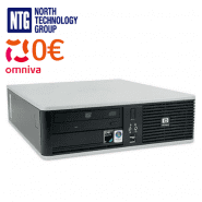 Lietots HP DC5850 SFF dators ar AMD divkodolu procesoru, 2GB RAM, 80GB HDD, Windows Vista
